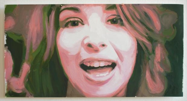Pat Noser Naomi Klein 2013 31x59 cm Oel auf Papier