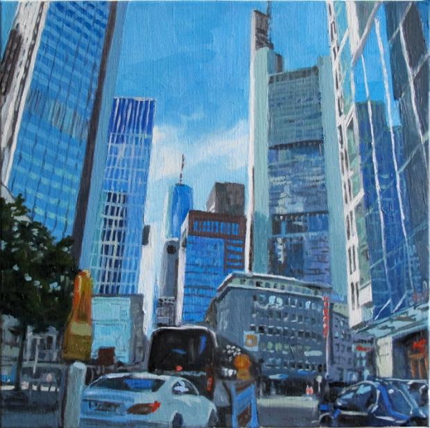 Pat Noser Dixi1 2015 57 x 57 cm Oel auf Leinwand