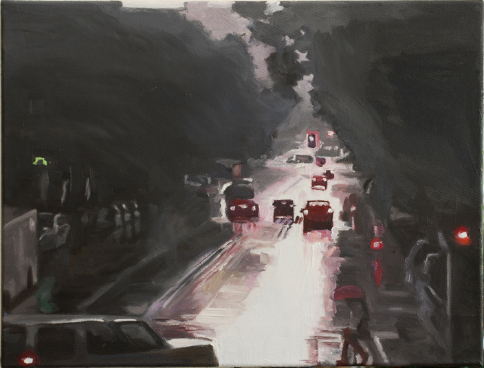 Pat Noser Goya y Velazquez 2012 38x50cm Oel Leinwandm