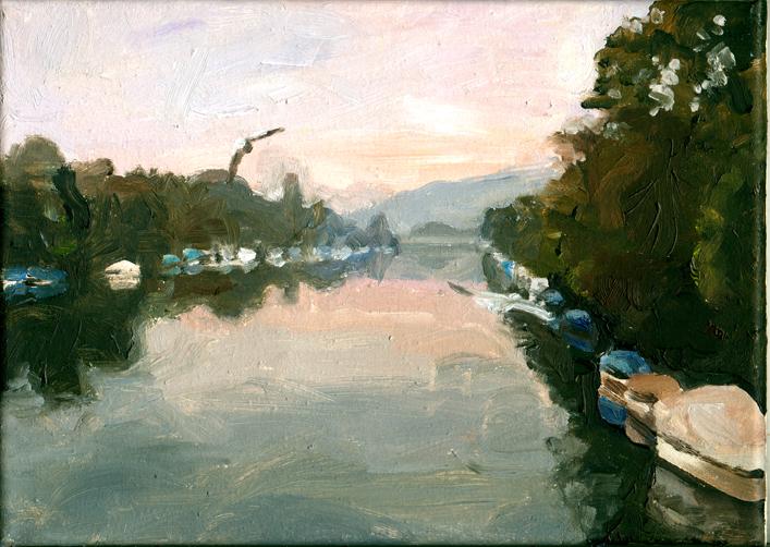 Pat Noser Inventar Aare 18 2005 19 x 25 cm Oel auf Leinwand