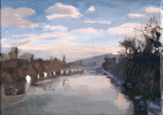 Pat Noser Inventar Aare 4 2005 19 x 25 cm Oel auf Leinwand