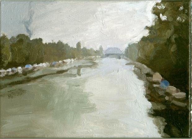 Pat Noser Inventar Aare 7 2005 19 x 25 cm Oel auf Leinwand