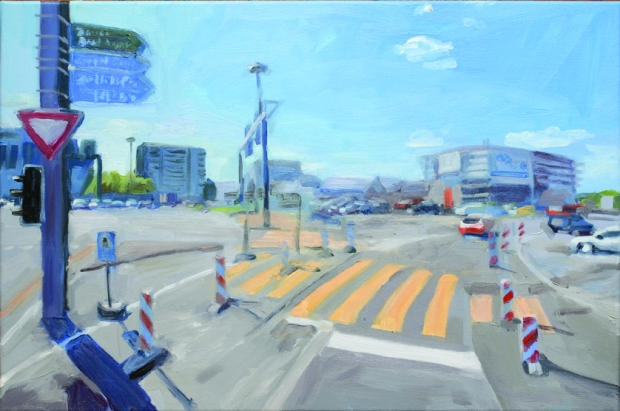 Pat Noser Street View 2012 40x60cm Oel Leinwandm