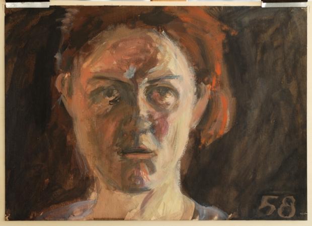 Pat Noser 58 /365 1994 30 x 42 cm Oel auf Karton