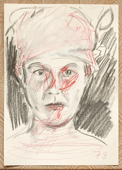 Pat Noser 78/365 1994 30 x 21 cm Oel auf Karton