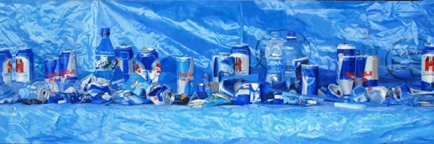 PatNoser-Fundstücke, blau-2009-Oel-Leinwand-120 x 360cm-m