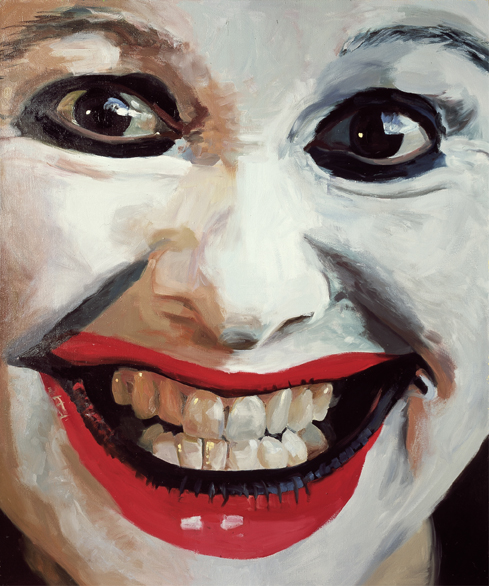 Pat Noser Portrait of the Artist as Clown 2001 120x100cm Oel auf Leinwandm