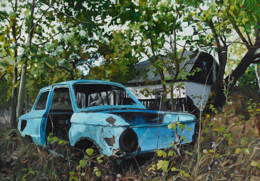Pat Noser Saporoschez 2009 140x200 Oel auf Leinwandm
