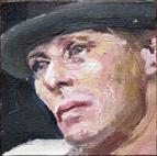 Pat Noser Beuys minimal 2014 5 x 5 cm Oel auf Leinwand auf Kartonm