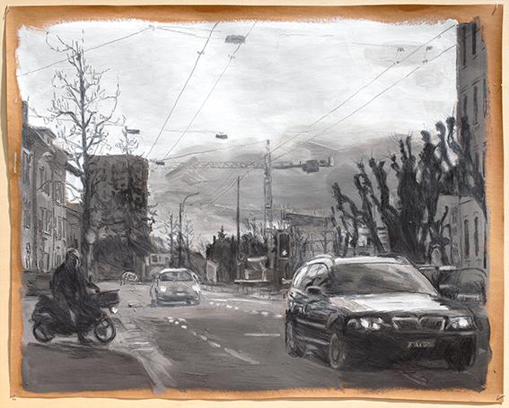 Pat Noser Madretsch 2016 16 63x79 Grapit Oel auf Papierm.jpg